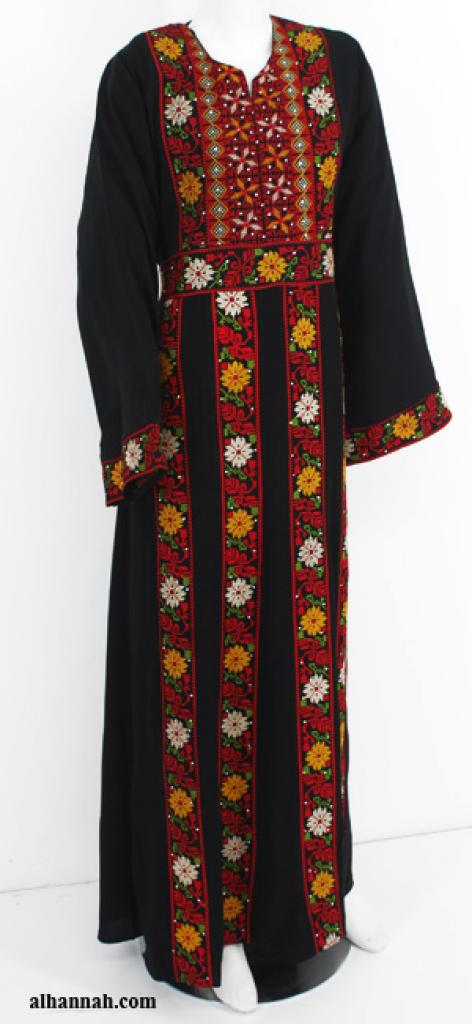 Deluxe Embroidered Palestinian Fellaha Dress th752