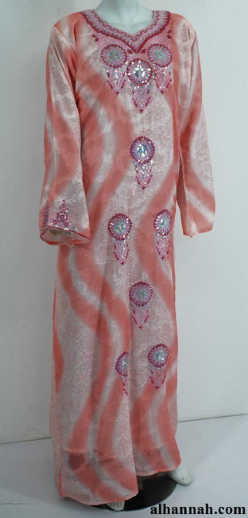 Chiffon Embroidered Saudi Abaya th757