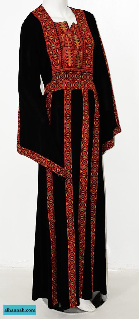 Kawthar Embroidered Palestinian Fellaha Dress th759