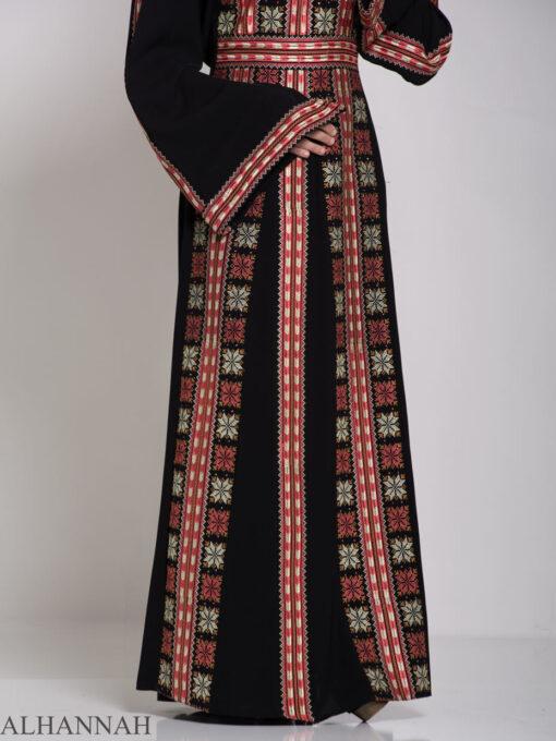 Alhena Embroidered Palestinian Fellaha Thobe th770 (4)