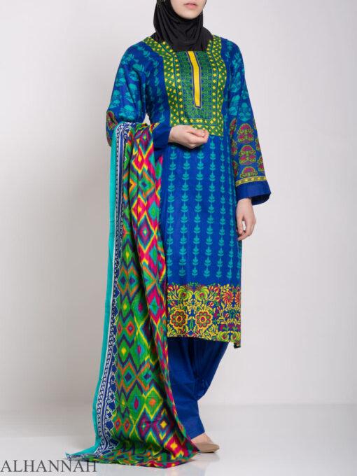 Alimah Salwar Kameez - Premium Lawn Cotton sk1219 (11)