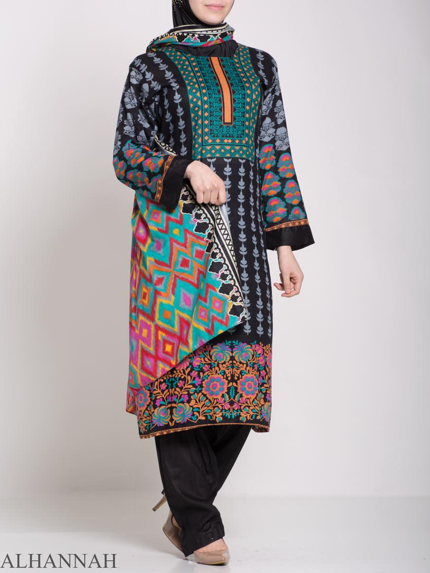 Alimah Salwar Kameez - Premium Lawn Cotton sk1219 (2)