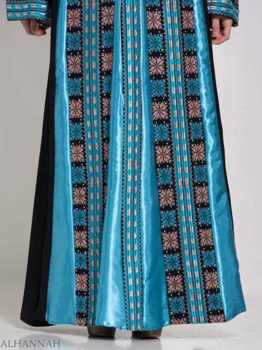 Asma Embroidered Palestinian Fellaha Thobe th768 (1)