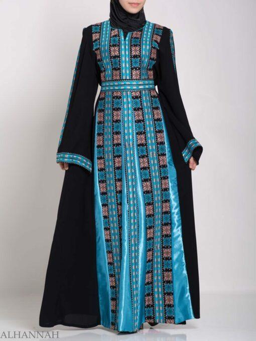 Asma Embroidered Palestinian Fellaha Thobe th768 (4)