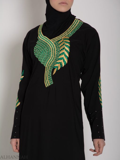 Authentic Khaliji Pull Over Abaya ab577 (11)