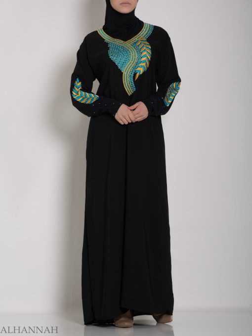 Authentic Khaliji Pull Over Abaya ab577 (14)