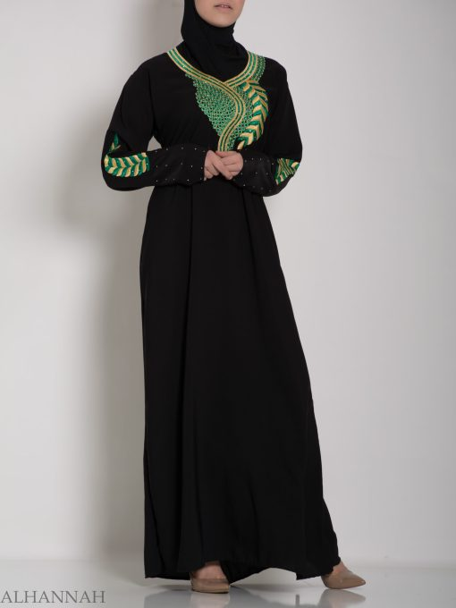 Authentic Khaliji Pull Over Abaya ab577 (3)