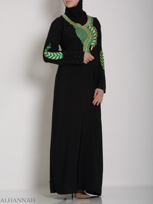 Authentic Khaliji Pull Over Abaya ab577 (9)