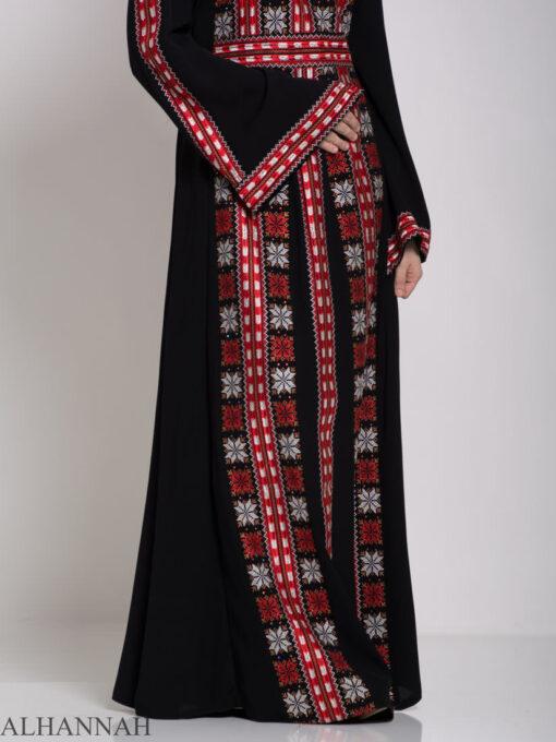 Badra Embroidered Palestinian Fellaha Dress th761 (12)