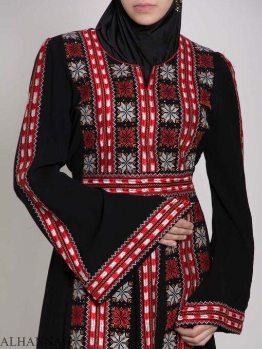 Badra Embroidered Palestinian Fellaha Dress th761 (13)