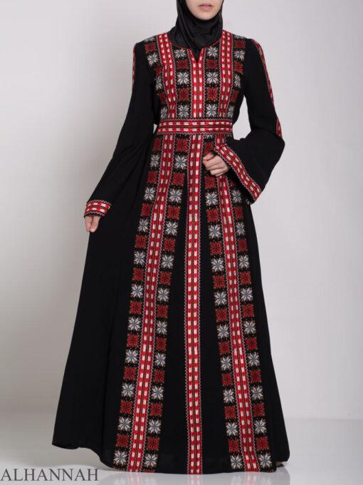 Badra Embroidered Palestinian Fellaha Dress th761 (9)
