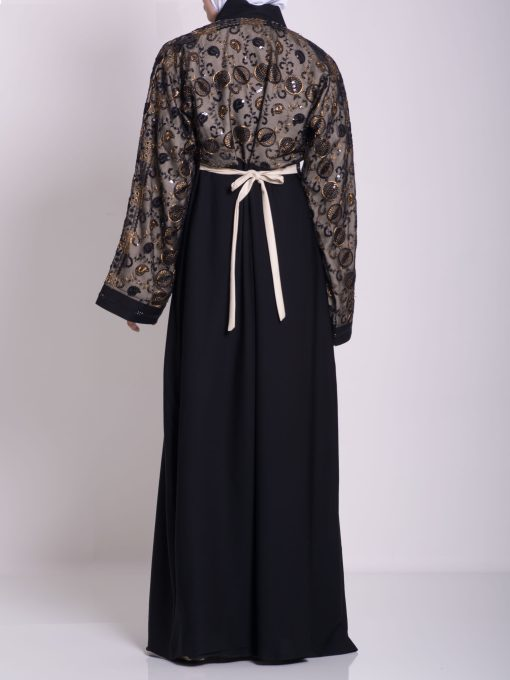 Chikan Abaya - Pull Over with Sequins ab658 (17)