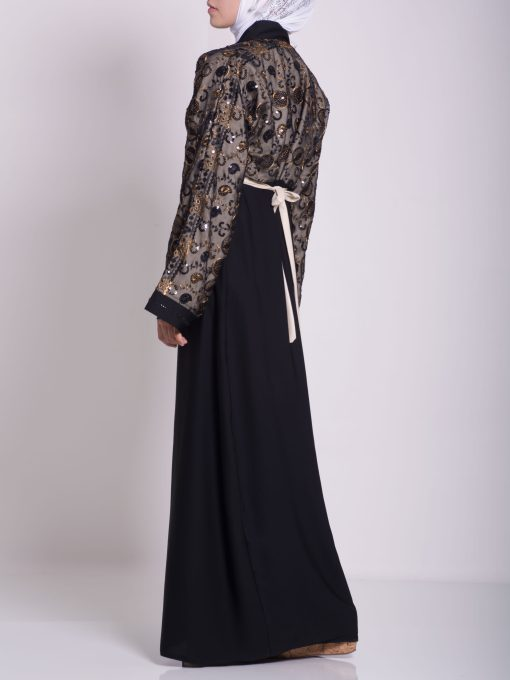Chikan Abaya - Pull Over with Sequins ab658 (18)