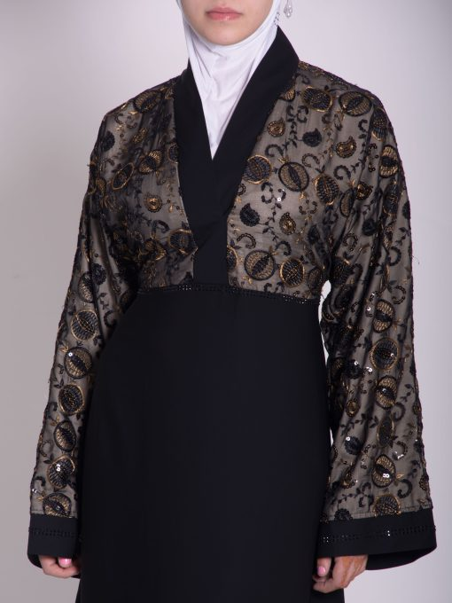 Chikan Abaya - Pull Over with Sequins ab658 (19)