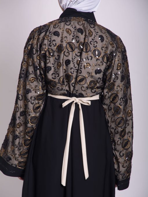 Chikan Abaya - Pull Over with Sequins ab658 (20)