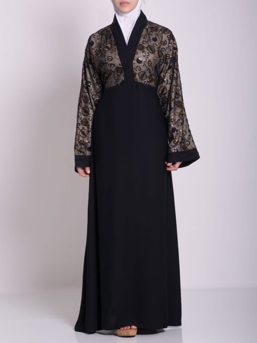 Chikan Abaya - Pull Over with Sequins ab658 (21)