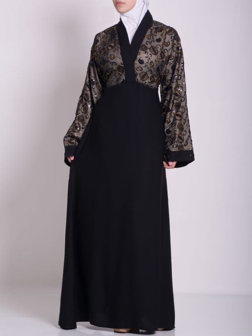 Chikan Abaya - Pull Over with Sequins ab658 (23)