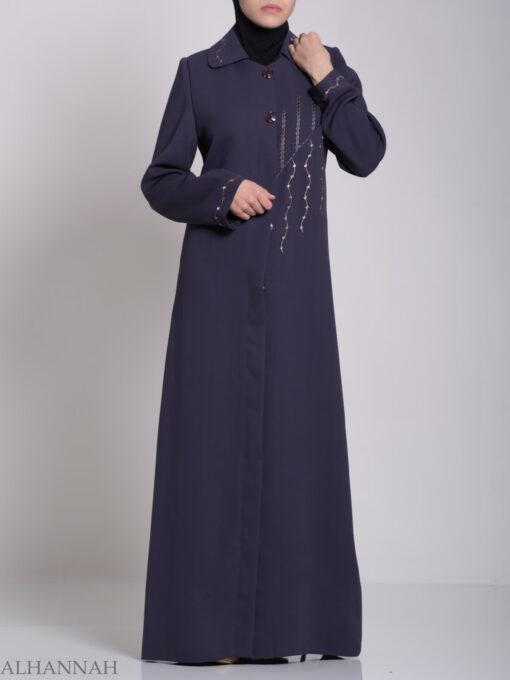 Classic Embroidered Jordanian Jilbab ji585 (2)