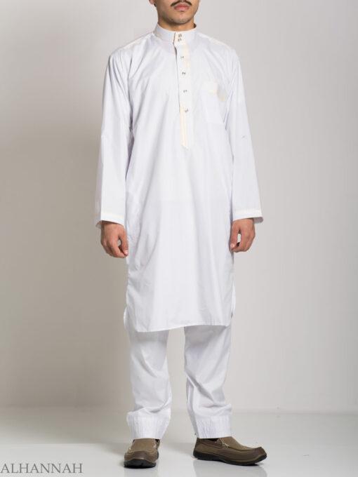 Deluxe Mens Salwar Kameez with Contrasting Trim me683 (2)