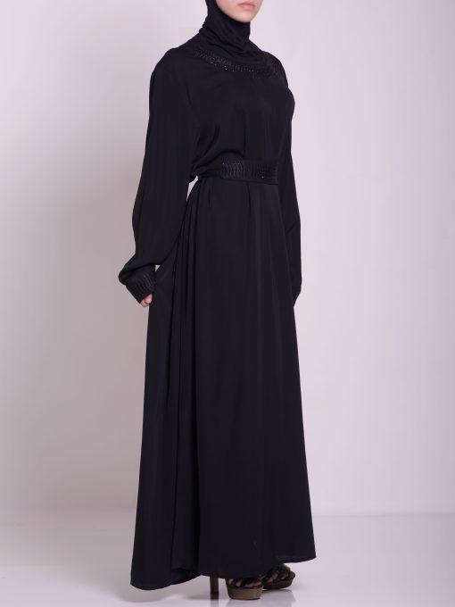 Embroidered Arabian Khalije Abaya ab638 (4)