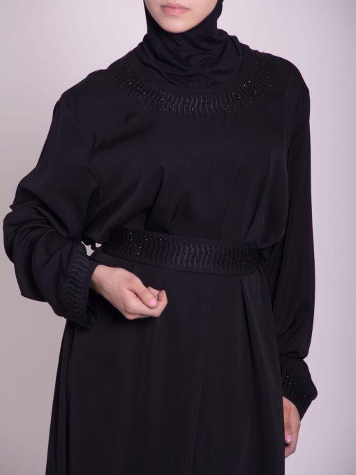 Embroidered Arabian Khalije Abaya ab638 (5)