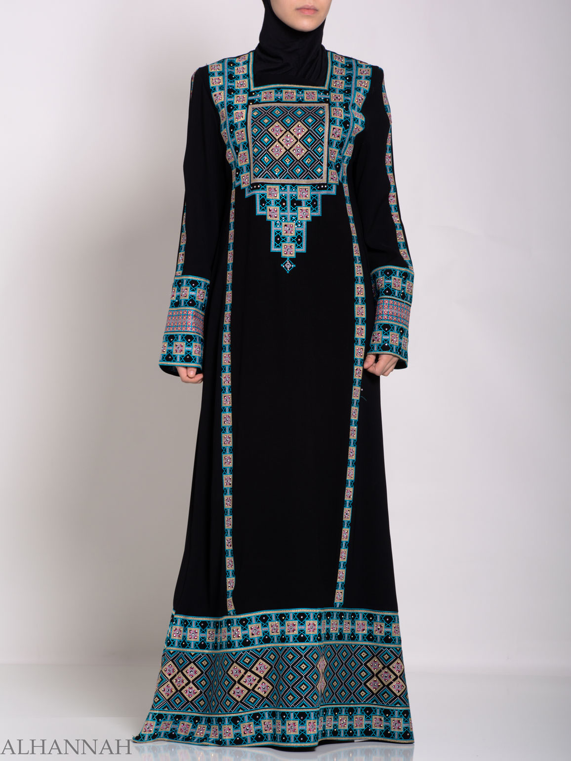 Faizah Embroidered Palestinian Fellaha Thobe th764 (5)