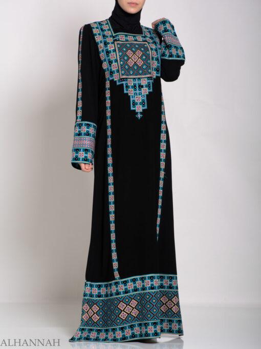 Faizah Embroidered Palestinian Fellaha Thobe th764 (6)