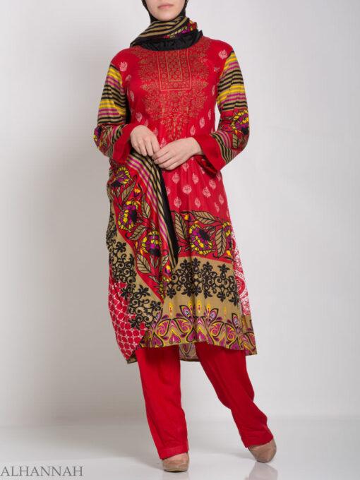 Hana Salwar Kameez - Premium Lawn Cotton sk1215 (3)