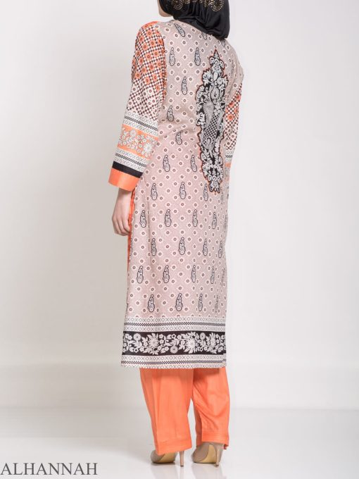 Ibtihaj Salwar Kameez - Premium Lawn Cotton sk1218 (10)