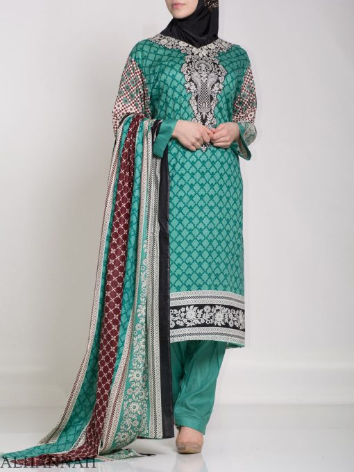 Ibtihaj Salwar Kameez - Premium Lawn Cotton sk1218 (12)