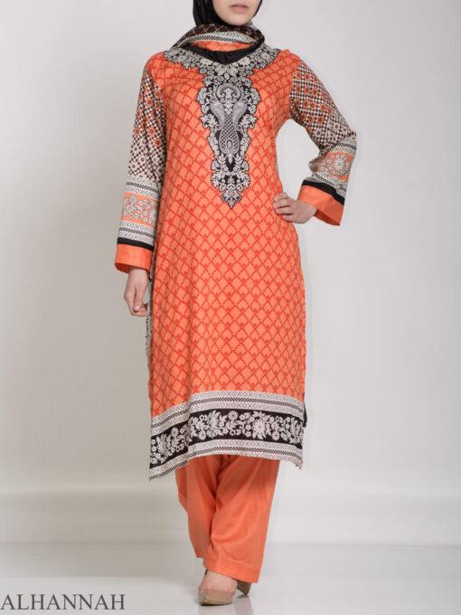 Ibtihaj Salwar Kameez - Premium Lawn Cotton sk1218 (4)