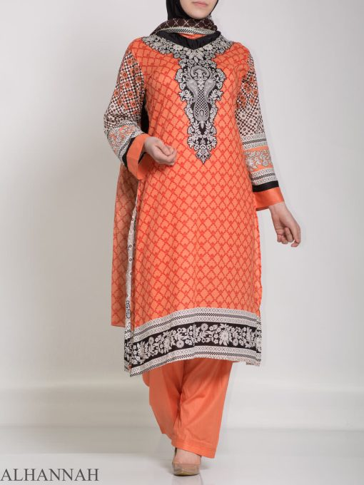 Ibtihaj Salwar Kameez - Premium Lawn Cotton sk1218 (5)