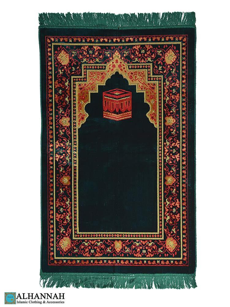 Kaaba & Floral Border - Turkish Prayer Rug