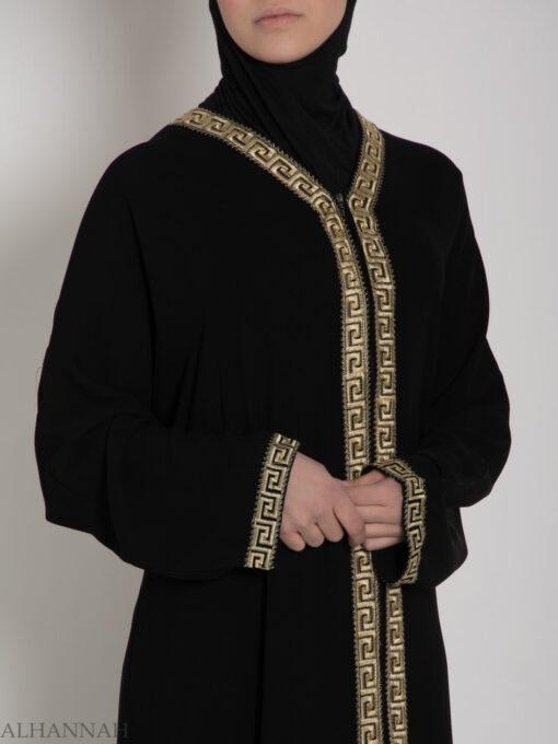 Khalije Abaya with Gold Embroidery ab641 (11)