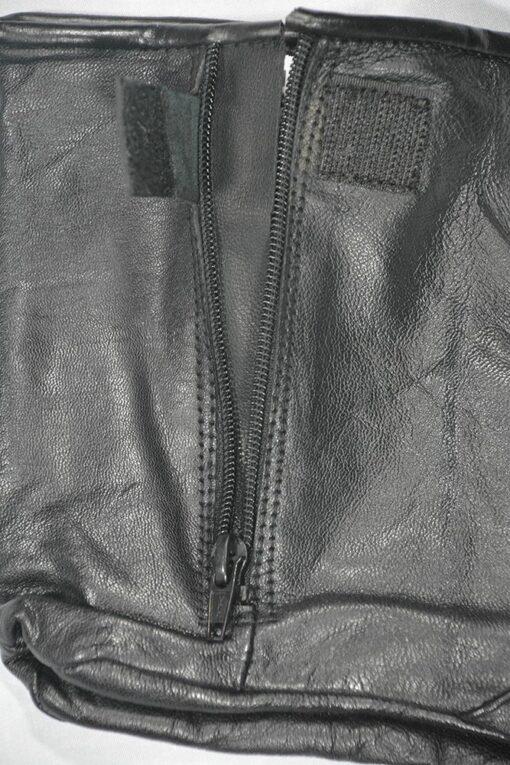 Leather Socks Khuff Zipper