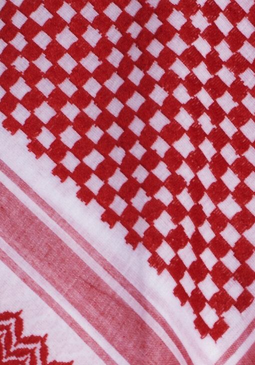 King Abdullah Premium Shemagh Fabric Close up