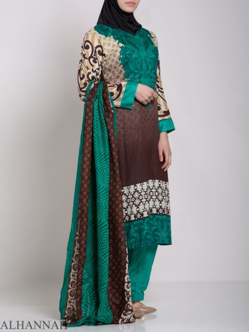 Maysa Salwar Kameez - Premium Lawn Cotton sk1235 (1)