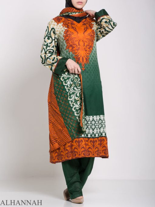 Maysa Salwar Kameez - Premium Lawn Cotton sk1235 (4)