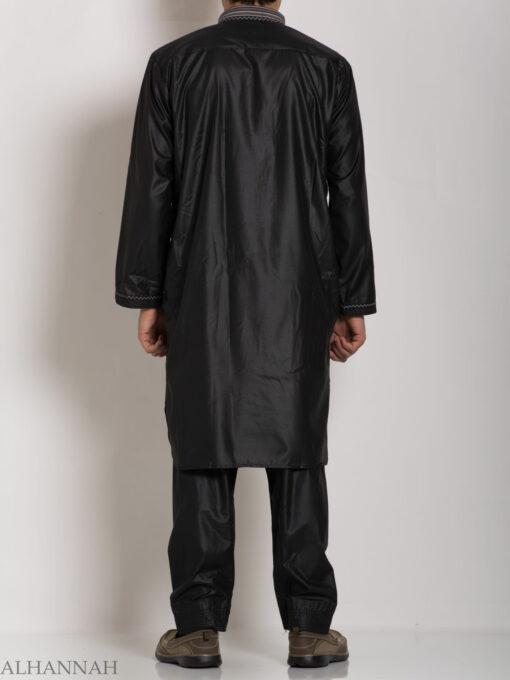 Mens Black Salwar Kameez Set me688 (4)