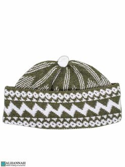 Muslim Wool Blend Cap - Olive