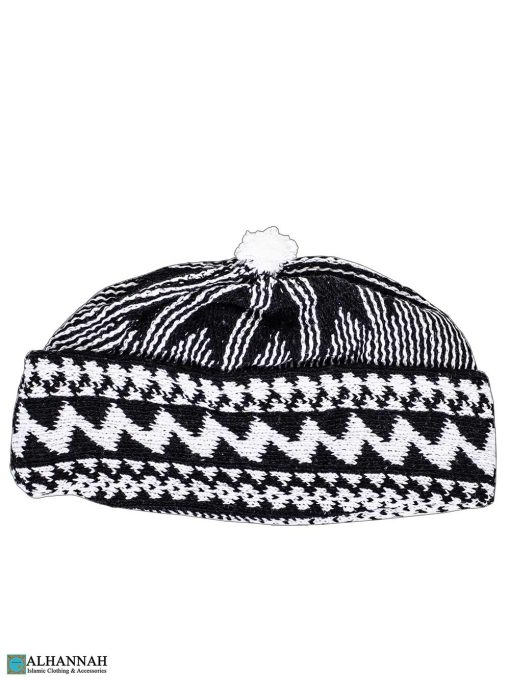 Muslim Wool Blend Knit Cap - Black