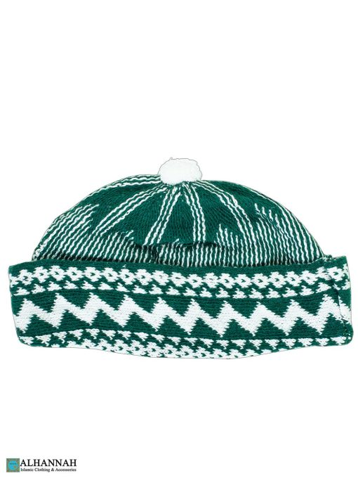 Muslim Wool Blend Knit Cap - Hunter Green