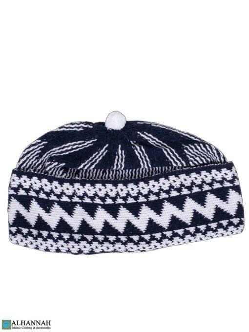 Muslim Wool Blend Knit Cap- Navy