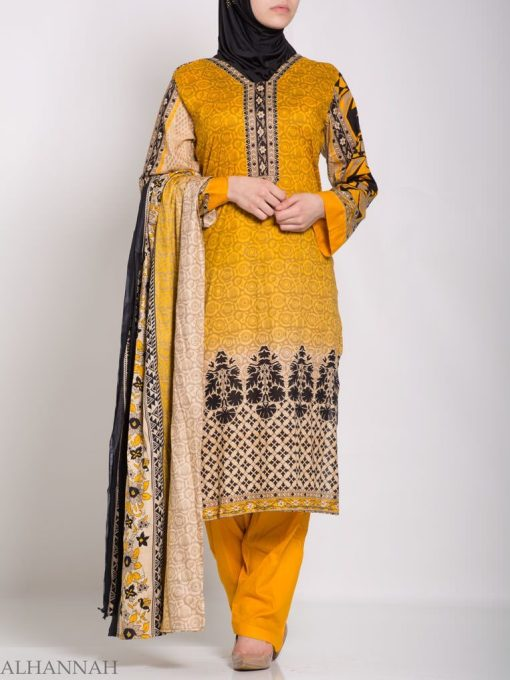 Ruwaydah Salwar Kameez - Premium Lawn Cotton sk1234 (1)