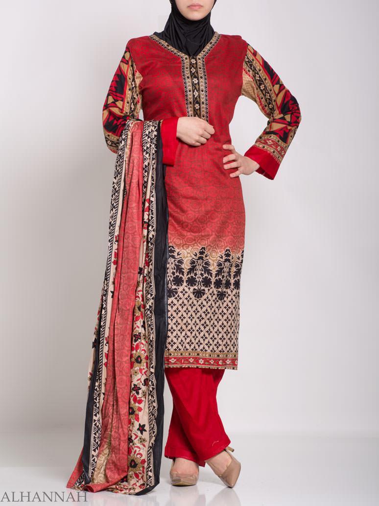 Ruwaydah Salwar Kameez - Premium Lawn Cotton sk1234 (2)