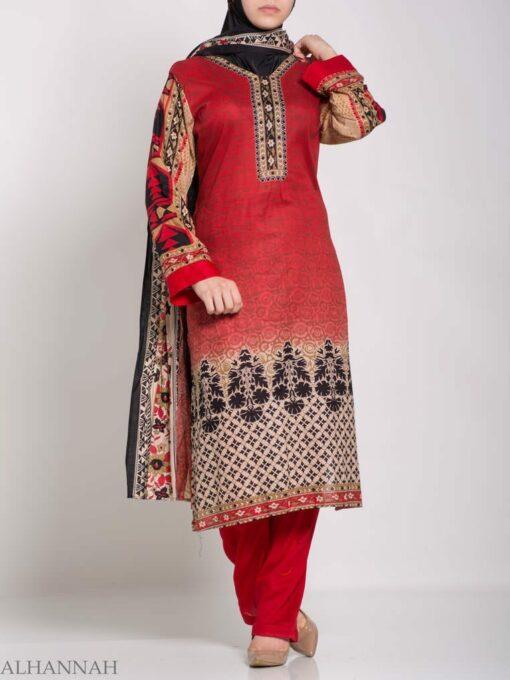 Ruwaydah Salwar Kameez - Premium Lawn Cotton sk1234 (3)