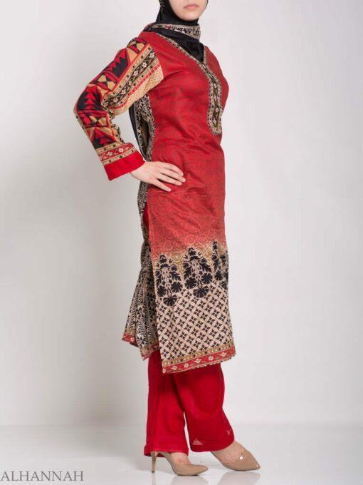 Ruwaydah Salwar Kameez - Premium Lawn Cotton sk1234 (4)