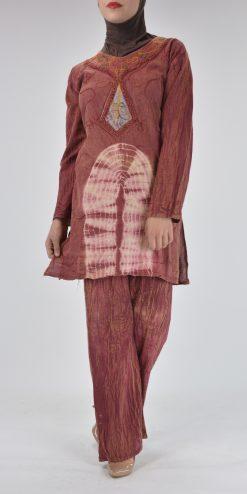 Tie-Dye Crushed Cotton Vintage 70s Salwar Kameez
