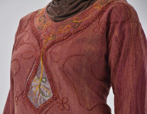 Tie-Dye Crushed Cotton Vintage 70s Salwar Kameez 4