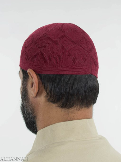 Traditional Knitted Cotton Kufi me674 (6)